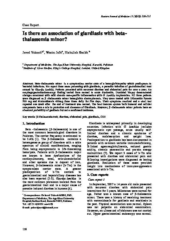 hepatobiliaris giardiasis