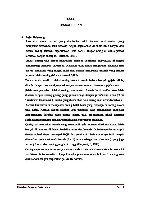 ascariasis vektorok